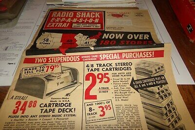 Vintage Radio Shack Newspaper Ad Space Patrol Missel Age Chemistry Set Ham Radio