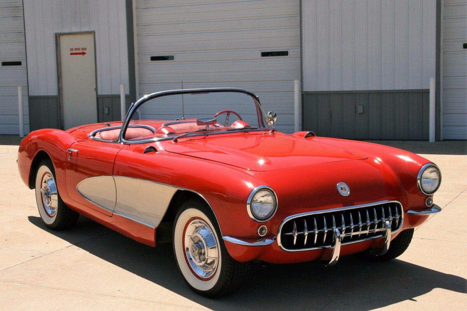 1956 CORVETTE 225HP DUAL QUAD VENETIAN RED
