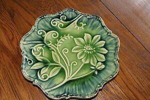 ARHAUS Green Wildflower Decorative Wall Hanging or / Dinner Plate.11 : plates decorative - pezcame.com
