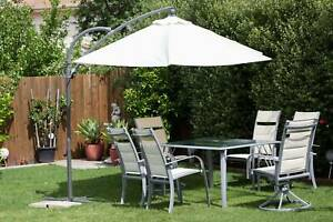 Outdoor Table Chair and Umbrella Set