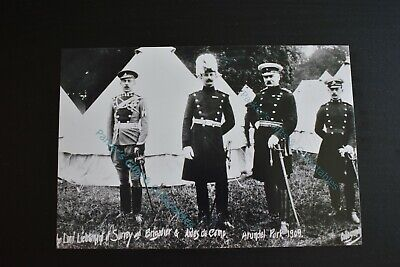 United Kingdom Photographic Print (Military Photo Print Surrey Yeomanry Officers at Arundel Park Camp 1909 )