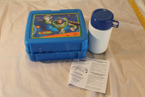 Vintage Disney Pixar Buzz Lightyear Lunchbox,Thermos and Original Papers