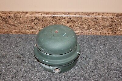 Vintage Signal Fire Alarm Bell Gong 6 Grey 120 Vac Tested Working
