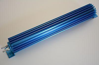 "12"" BLUE Aluminum Dual Pass Finned Transmission Cooler trans 700R4 4L60E C4 C6, used for sale  La Porte City"
