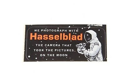 Hasselblad Camera Vintage Rare Moon Astronaut Sticker Decal 2.5x1""