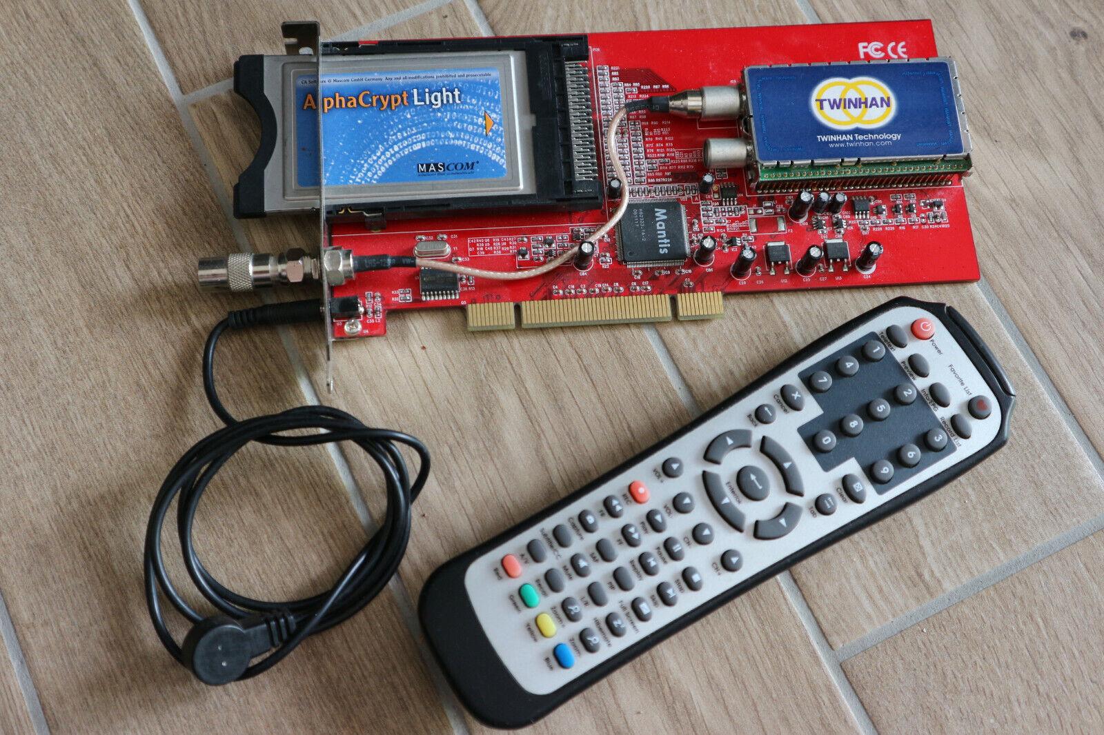 TV Karte Alpha Crypt light Mascom Version R 2.3 CI Modul Twinhan Mantis