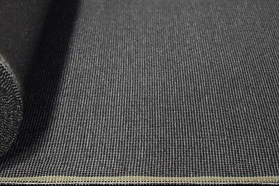 Fabric Seat Upholstery - Vintage Coal Grey Canvas Tweed Fabric 56