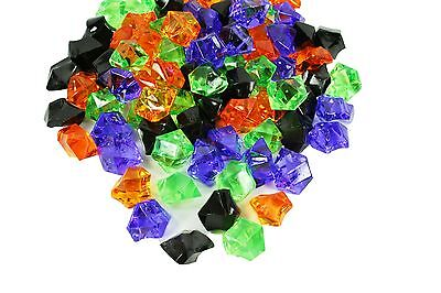 Halloween Colors Acrylic Ice Rocks Table Scatter Vase Decoration 4 Mixed Colors