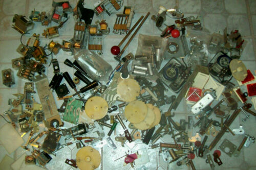 Assortment of Old Vintage Arcade Game Parts from the 1960s and 1970s