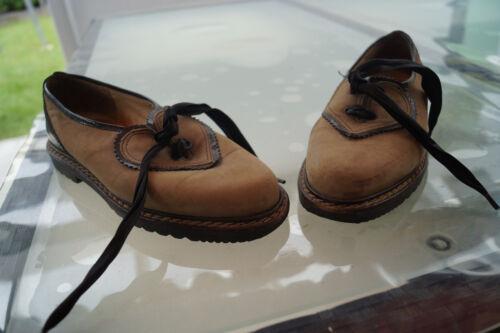 Südtiroler Trachtenschuhe Ladies Traditional Shoes Gr.37 Nubuck Leather Top