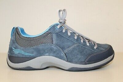 Dansko Womens Oxford Shoe Sz 9.5 - 10 / 40 Blue Suede Fashion Sneaker Lace Up  Suede Womens Oxford
