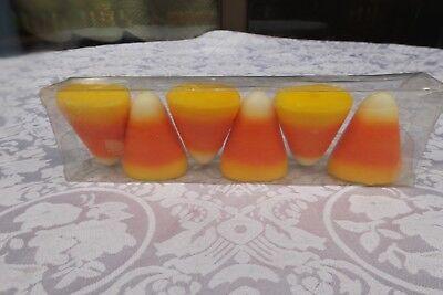 Rare Halloween decorations 2 1/4 in. Orange teeth Candles set of 6 original pack - $1 Halloween Decorations