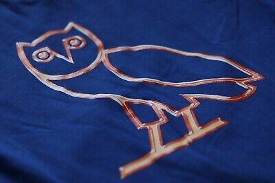 OVO Liquid OWL Tee Blue Size MediumM Octobers Very Own Drake Logo Owl Summer
