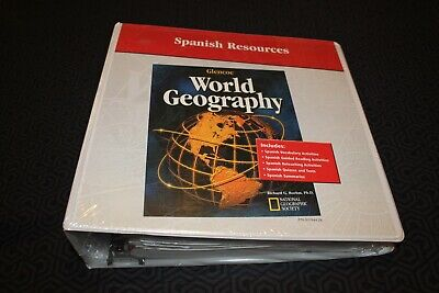 World Geography Spanish Resources Glencoe McGraw-Hill Teacher Binder New