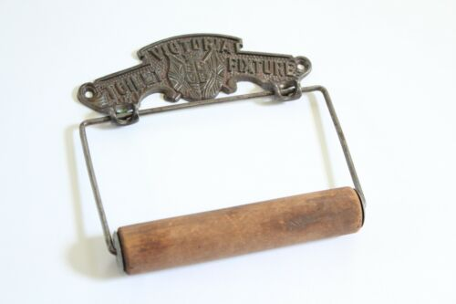 antique toilet paper holder hanger | vtg deco victorian outhouse bath tissue tp