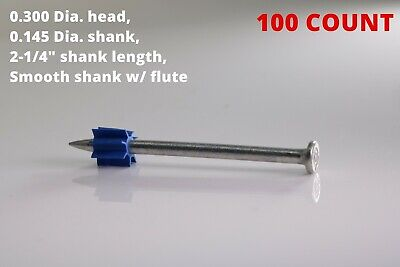 2-14 Powder Actuated Fastener Drive Pin W Flute Construction Fastening Nail