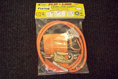 "Tree Climber Flipline Kit,1/2"" X 8' High Vis w/Adjuster & Carabiner, Made In USA"