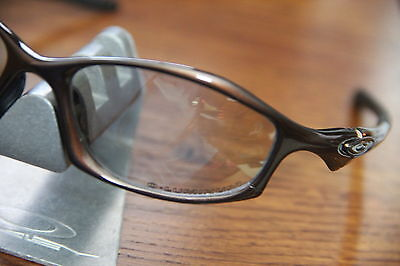 Oakley ++ HATCHET BROWN FRAME = TITANIUM CLEAR IRIDIUM ++DISCONTINUED == RARE++ for sale  Shipping to India
