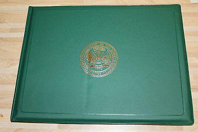 US Army Award Plaque Mappe aufklappbar für Urkunde oder Auszeichnung ca DIN A4