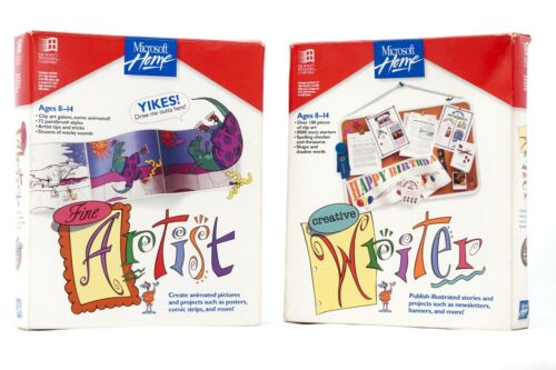 Microsoft Home Fine Artist + Creative Writer (1994) *Vintage/Retro*