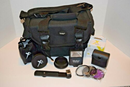 Vivitar Camera Bag with Extras Filters Telephoto Lens 58mm
