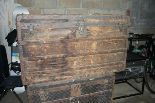 LOUIS VUITTON Antique Wardrobe Steamer Trunk Chest  PICK UP ONLY