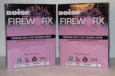 Boise Fireworx Colored Paper 20lb Echo Orchid 2 Pack