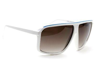 Square Oversized Vintage White Frame Brown Gradient Lens Women (White Frame Sunglasses For Women)