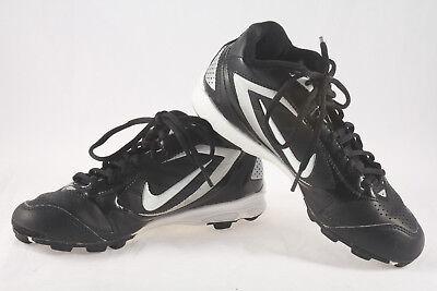 f9e60640a13a6b Boys Nike Keystone Mid Baseball Cleats ~ Used Cleaned ~ Black White ~ Size  4.5