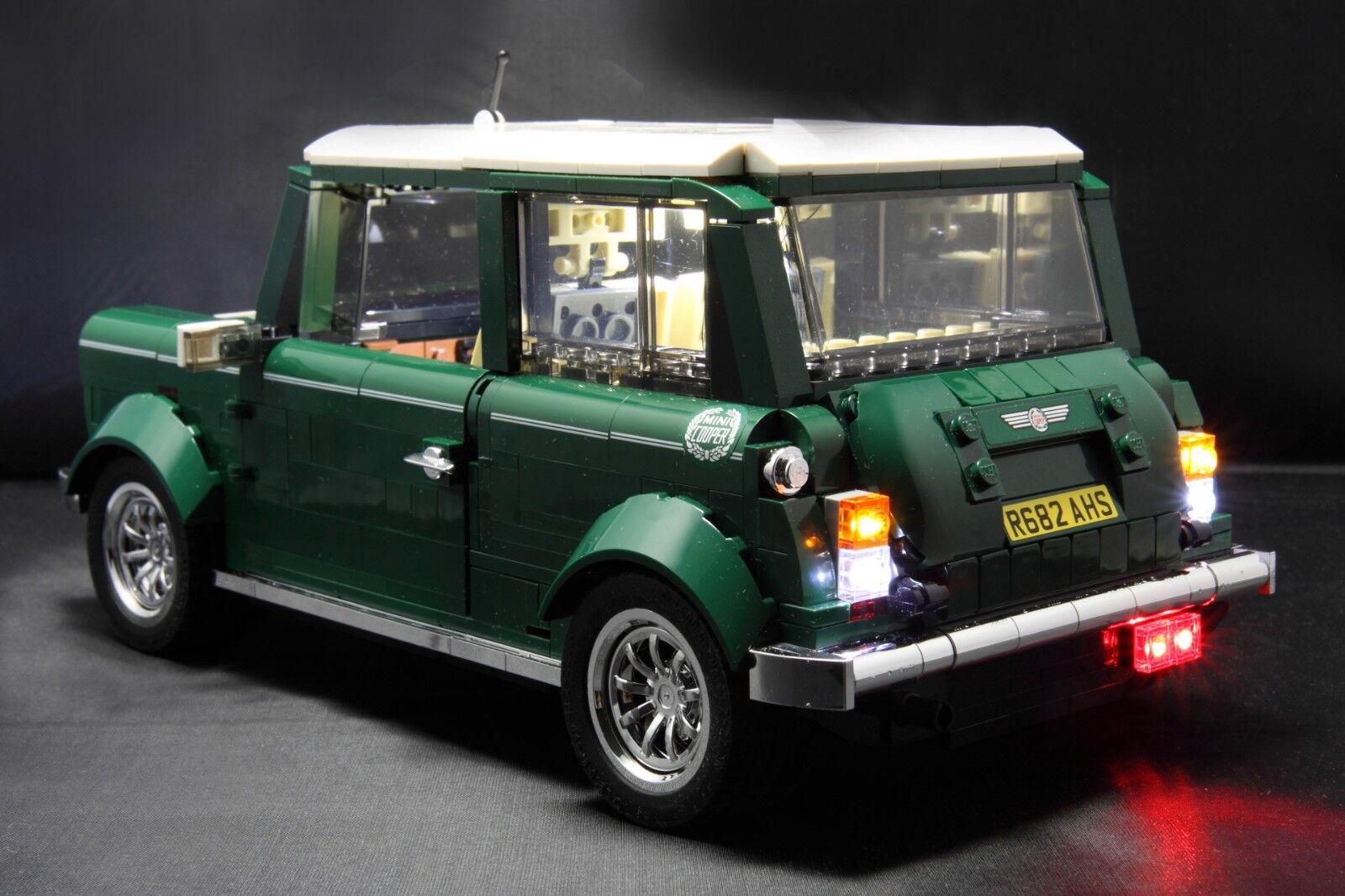 for Lego 10242 Mini Cooper MK VII White USB Powered LED Light Kit