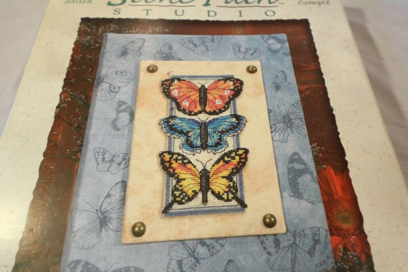 Counted Cross Stitch- 3 Butterflies- Stone Path Studio New Dimensions Kit 72844