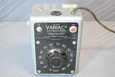 General Radio Company Variac Autotransformer Type W10mt