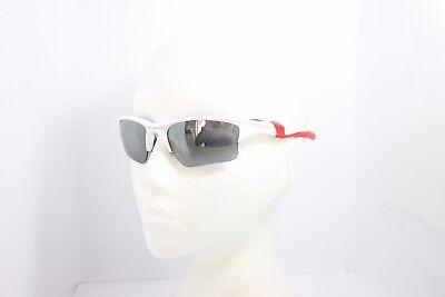 Oakley Half Jacket 2.0 9154-23 Polished White Red Black Iridium Sunglasses 62mm