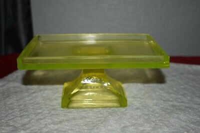Vintage Teaberry Gum Vaseline Glass Counter Top Advertising Display Glass Tray