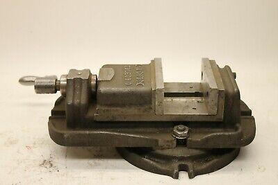 Vintage L-w Chuck Toledo Milling Machine Swivel Vise 4.5 Jaws 2.75 Capacity