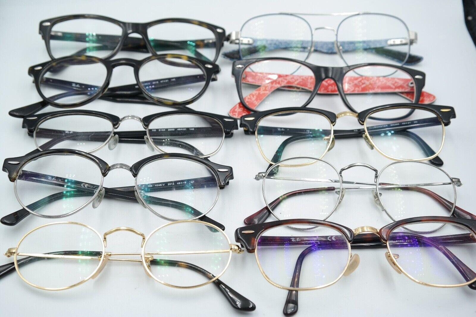 10 x Brille Brillengestell Paket Konvolut Lot Sammlung Ray Ban rund Clubmaster