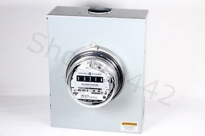 Ge General Electric Watthour Meter 120v 4w Type 1-70-s Analog Tmd-170s Complete