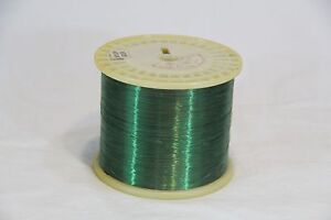 33-AWG-Gauge-Magnet-Wire-40000-ft-Green-Nylon-Copper-Coil-Winding-6-6lbs-HUGE