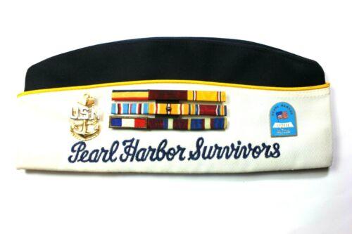 PEARL HARBOR SURVIVORS - GARRISON CAP - U.S.S. MARYLAND VETERAN