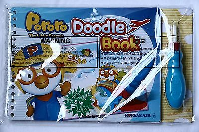 Pororo The Little Penguin Doodle Book with Brush Korean Air New