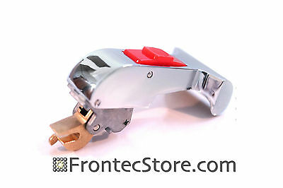 Chrome Door Handle W Red Button For Ipso Washer 2170005100 Silver T-shape