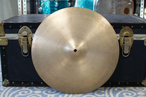 """1970s Zildjian Hollow Logo 16"""" Crash Cymbal 1043g"""