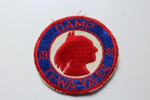Vintage BSA Boy Scouts 1947 Camp TI-WA-YA-EE Patch