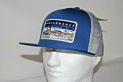 d045c232bf46c Columbia PFG Offshore Flat Brim Snap Back Mesh Hat in Marine Blue Marlin  Fade