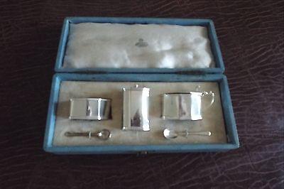 Sterling Silver 4 Piece Cruet / Condiment Set for Asprey of London (retailer)