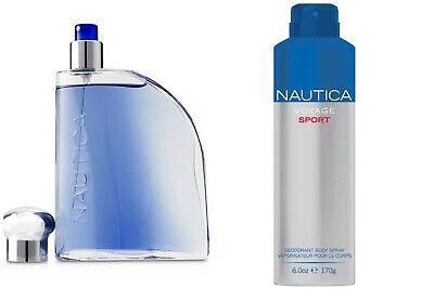 Nautica Blue Sail Men's Cologne Fragrance EdT & Deodorizing Body Spray 2-Pc Set