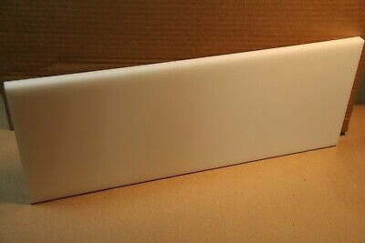 12 Delrin Block Natural Acetal Sheet 7x19 Cnc Millstock Plastic 5819