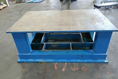 Heavy Duty 1-14 Thick Top Steel Fabrication Welding Table Work Bench 77 X 47