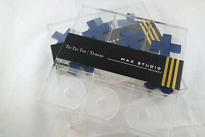 Jumbo Acrylic Tic Tac Toe Game Board NEW Max Studio I like Tahari White and Blue