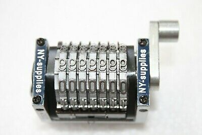 New 316 Rotary Straight Forwards Numbering Machine For Morgana - 7 Digit